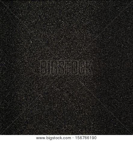 Texture of black sponge. engineer absorb foam
