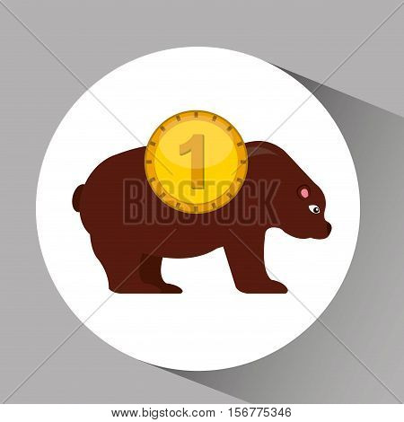 concept stock exchange market bear sell icon vector illustration eps 10