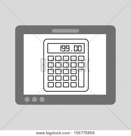 hand touch calculator financial vector illustration eps 10