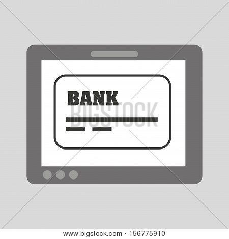 hand holding tablet card bank debit credit vector illustration eps 10