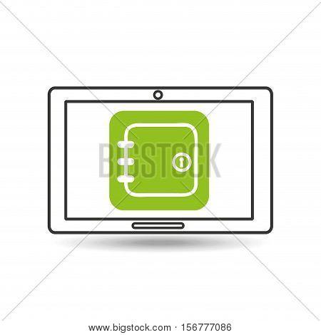 concept money tablet digital graphic vector illustration eps 10