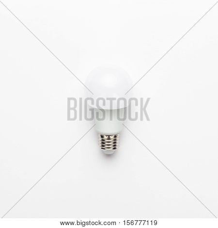 led bulb on white background. not isolated