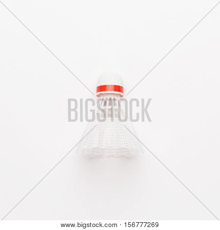 nylon badminton shuttlecock on white background. not isolated
