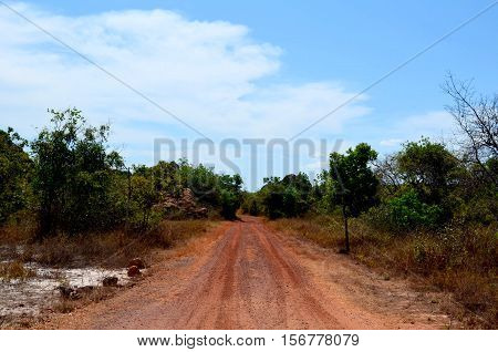 It's a dirt road in the Brazilian backcountry