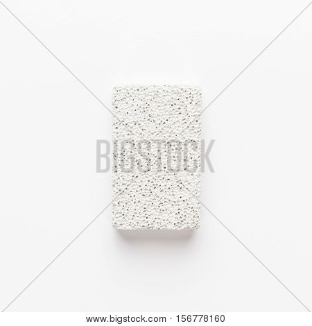 pumice-stone on the white background. not isolated