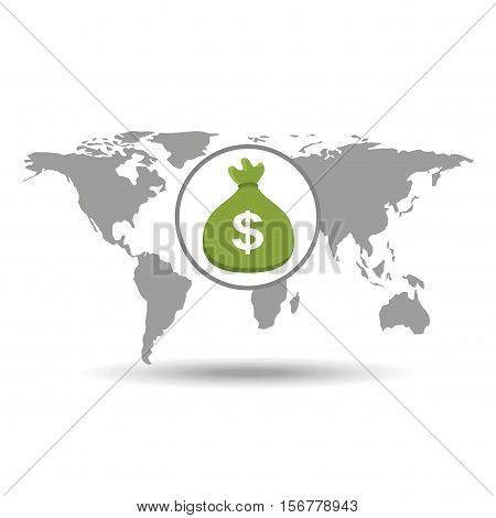 global business bag money concept icon vector illustration eps 10