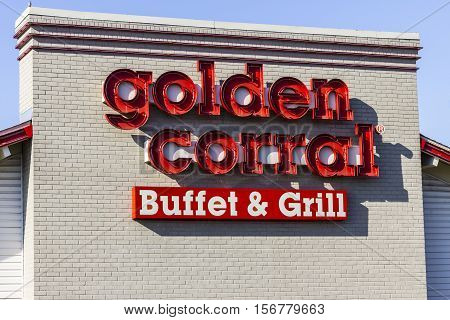Kokomo - Circa November 2016: Golden Corral Buffet and Grill. Golden Corral serves many free meals to active duty and military veterans III