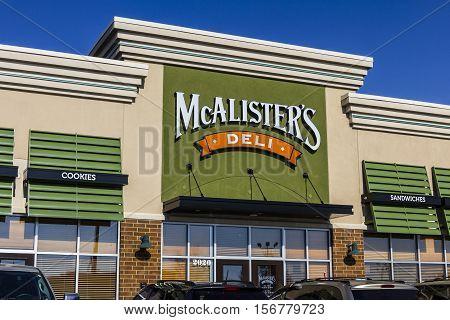 Kokomo - Circa November 2016: McAlister's Deli Fast Casual Restaurant. McAlister's serves their Famous Sweet Tea I