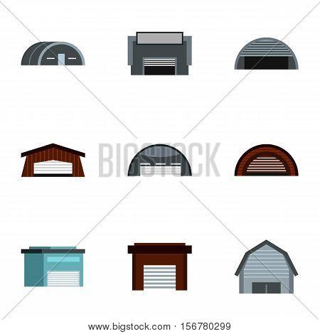 Storage icons set. Flat illustration of 9 storage vector icons for web