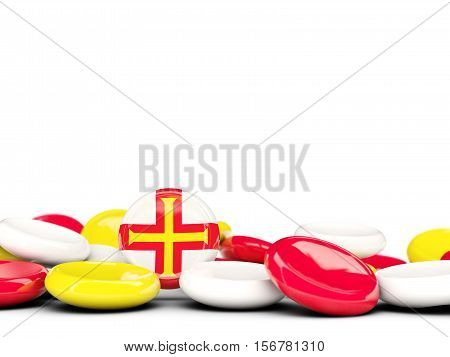 Flag Of Guernsey, Round Buttons