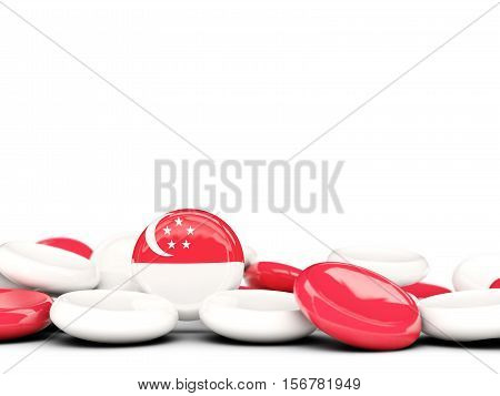 Flag Of Singapore, Round Buttons