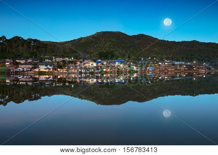 Ban Rak Thai a Chinese settlement in Mae Hong Son province Northern Thailand. The village was established and is still populated by Chinese Kuomintang refugees who escaped the communists in 1949.