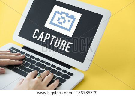 Capture Photographer Camera Icon Graphic Concept