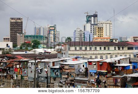 Slum Region In Manila, Philippines