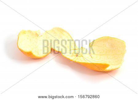 Peeled Skin Of Clementine Fruit