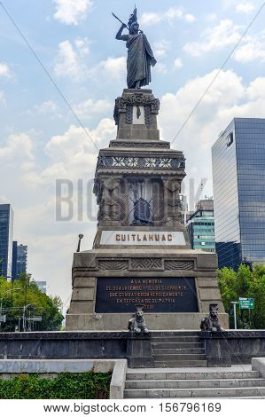 Cuitlahuac Monument - Grand Passeo, Mexico City
