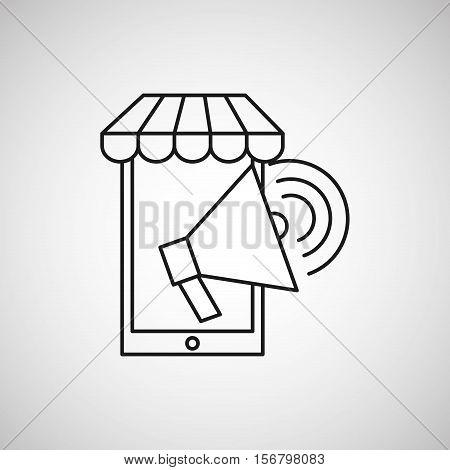 smartphone speaker ecommerce design vector illustration eps 10