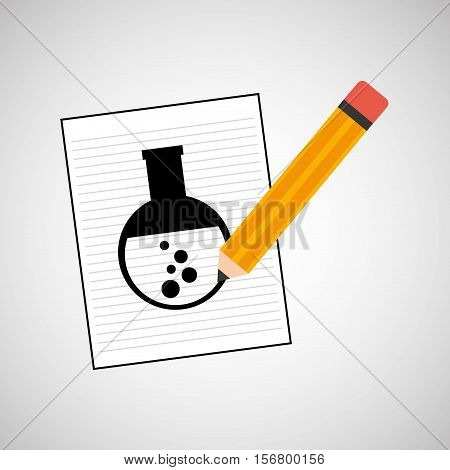 research chemical test tube laboratory icon vector illustration eps 10