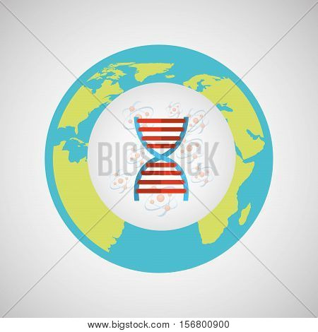 concept science lab dna medical icon graphic vector illustration eps 10