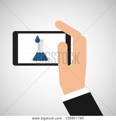 chemistry laboratory smartphone experiment vector illustration esp 10