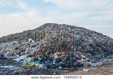 Landfill in city,Waste and toxic concept change for environment