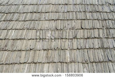 Traditional shingle roof background ( wood texture )