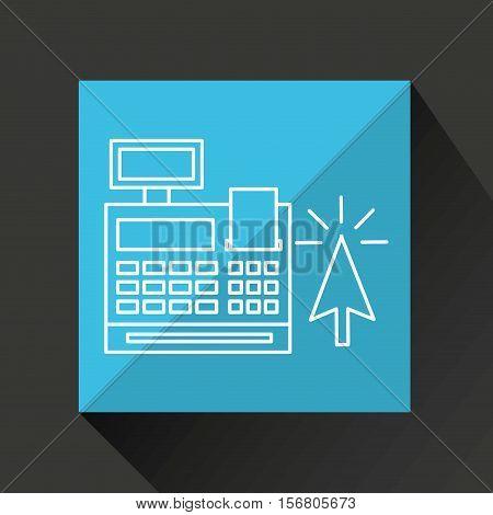 commerce cash register money icon graphic vector illustration eps 10
