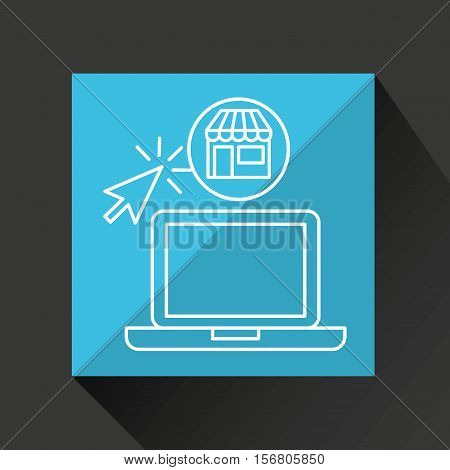online shopping store laptop icon vector illustration eps 10