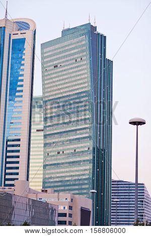 Modern the high-rise buildings in the Astana city, Kazakhstan