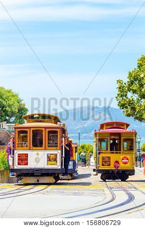 Sf Fishermans Wharf Hyde St Cable Car Terminus V