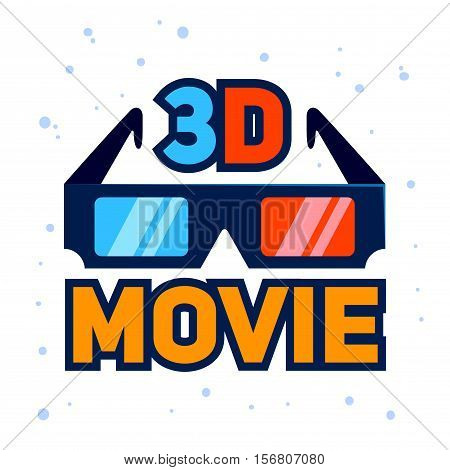 Vector stock of 3D movie glasses icon illustration
