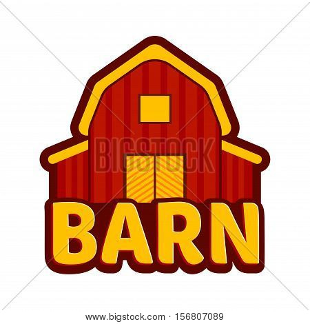 Vector stock of red wooden farm barn illustration