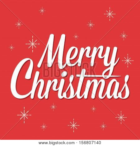 Vector stock of Merry Christmas Lettering Background
