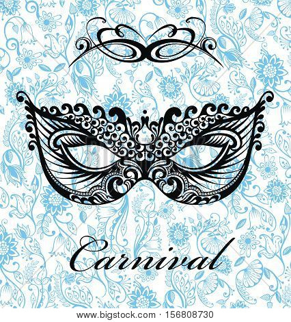 Mardi Gras vector background . Masquerade card