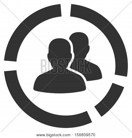 Demography Diagram vector icon. Flat gray symbol. Pictogram is isolated on a white background. Designed for web and software interfaces.