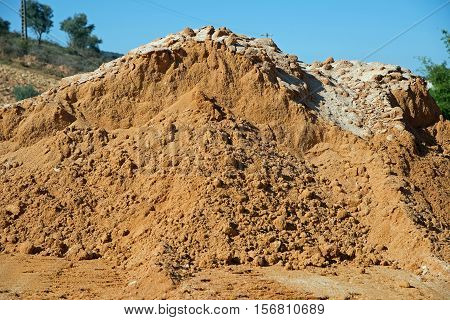 Mound of earth for construction sites in Portugal