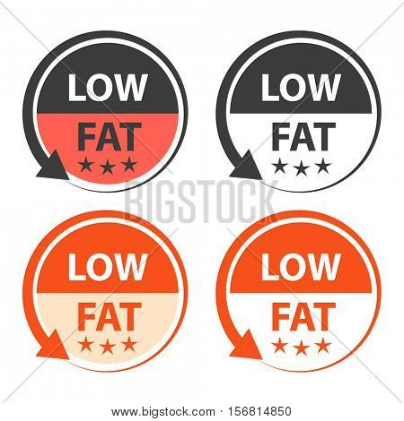Low fat food labels.