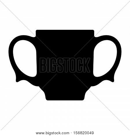 Two-handled cup ( shade picture ) on white