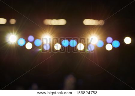 Concert Lights Shot With Shallow Depth Of Field.