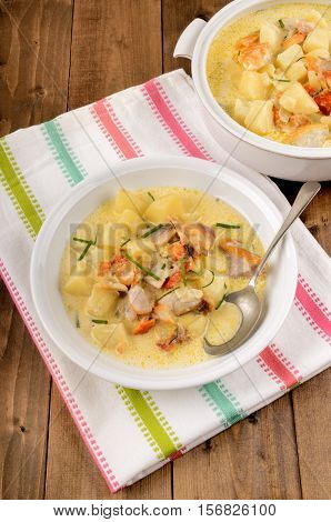 cullen skink a traditional dish in scotland made with smoked haddock and potato
