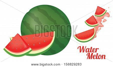 a water melon on a white background