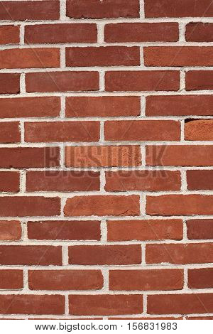 Red brick aged wall background