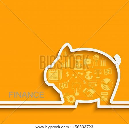 Finance and business concept. Vector Illustration eps10
