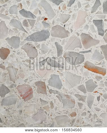 Terrazzo floor texture polished stone pattern wall and color surface marble for background : image vertical: