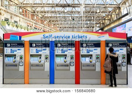 Self-service Tickets Machines At Waterloo Station