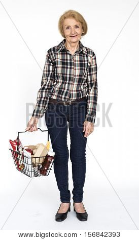 Senior Caucasion Woman Cheerful Portrait Concept
