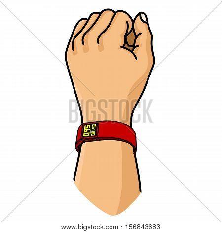 Vector Illustration Of Fitness Band, Hand Bracelet