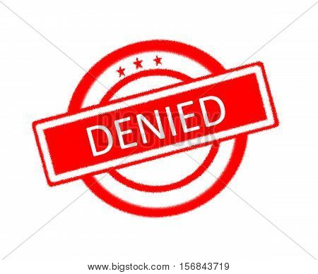 Illustration of denied word on red rubber stamp