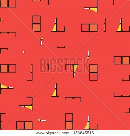 tile red patten for kitchen or bathroom, vector design