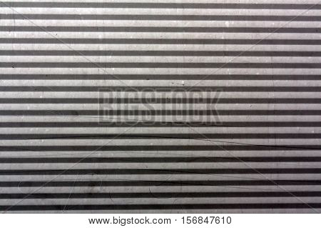 Corrugated Metal Plate Surface.